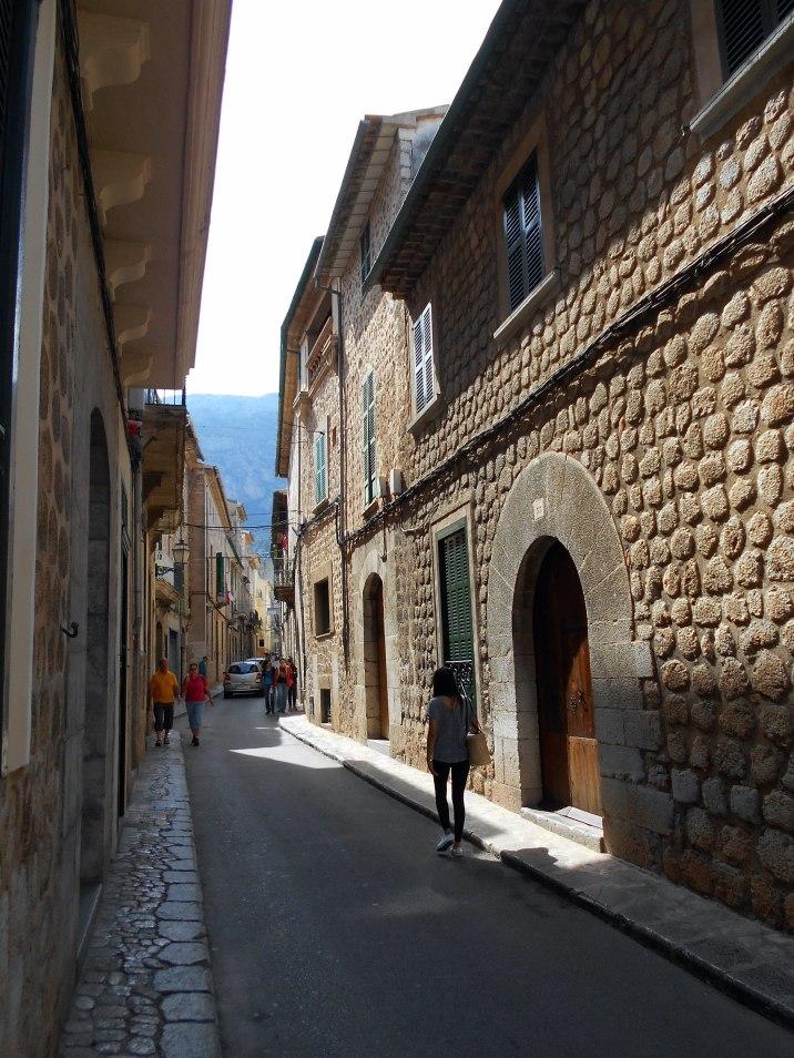 typowa uliczka w Soller