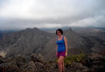 historyczna, pierwsza wycieczka w kanaryjskie góry