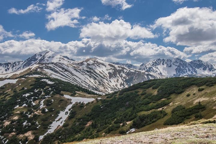 Grześ Tatry Zachodnie szlak wiosna  śnieg