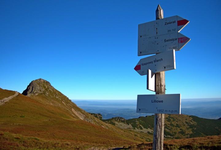 Przełęcz Liliowe szlak