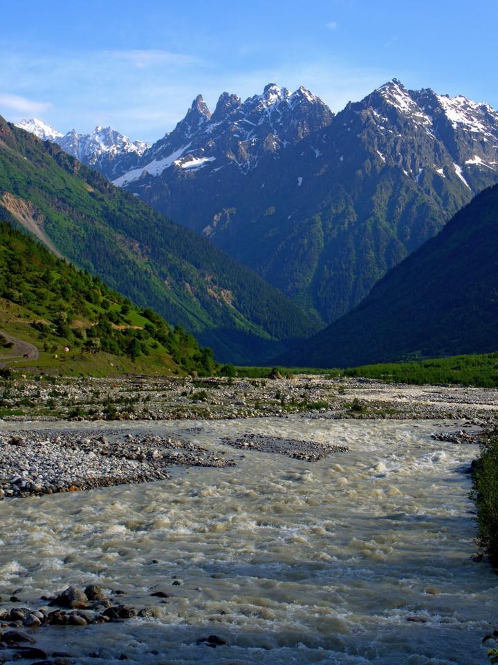 lodowiec Chalaadi Swanetia