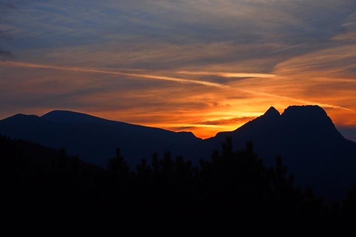 Giewont zachód słońca