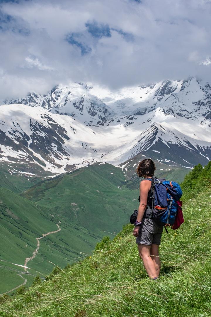 Uszguli Gruzja Swanetia szlaki trekking