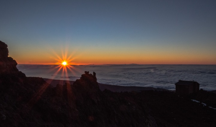 Teide wschód słońca