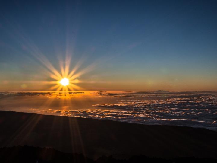 Teide szlak wschód słońca