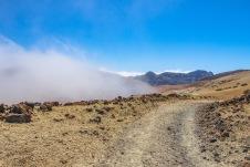 chmury na wysokości 2500 m