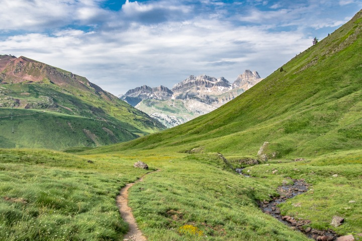 szlak z Astun na Col des Moines