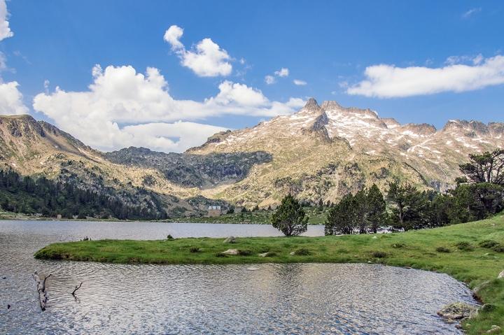 Lac d'Aumar szlak Pireneje trekking