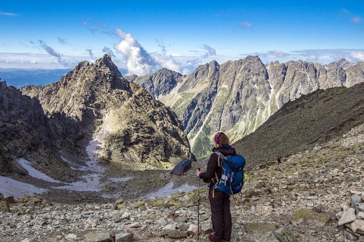 Przełęcz Waga Rysy Słowacja szlak