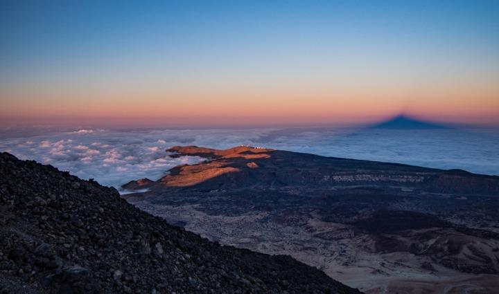 Teide Altavista schronisko zachód słońca