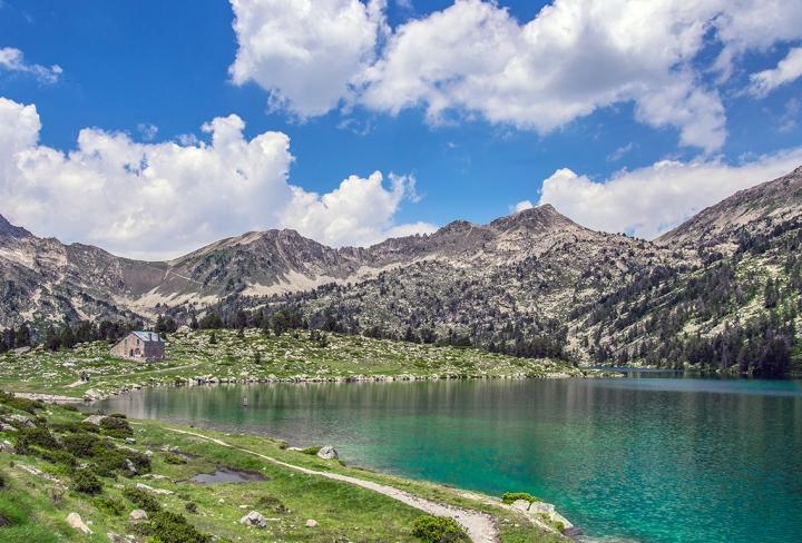 Lac d'Aumar szlaki Pireneje