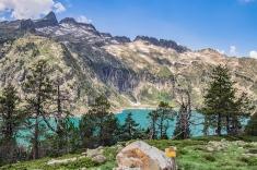 Lac d'Aubert szlak Pireneje