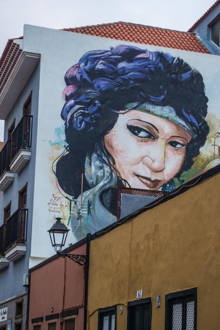 murale w Puerto de la Cruz