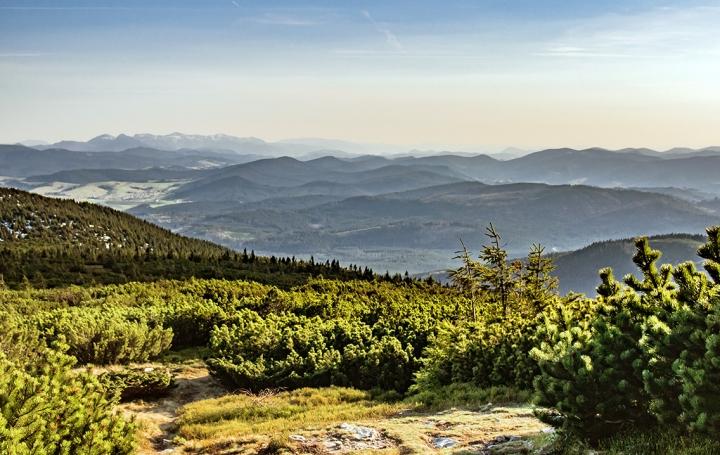 Słowacja z Pilska panorama