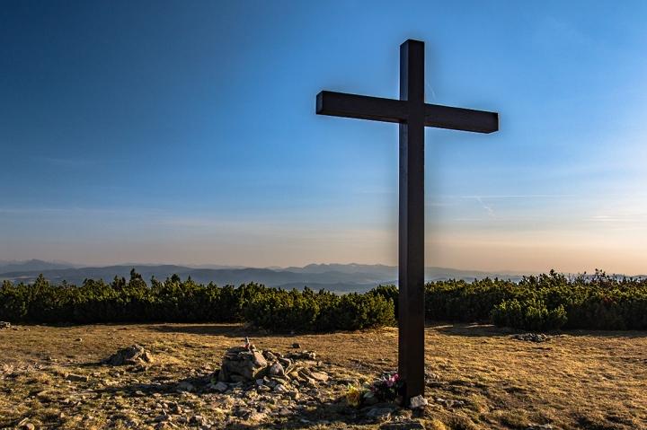 Pilsko szczyt krzyż
