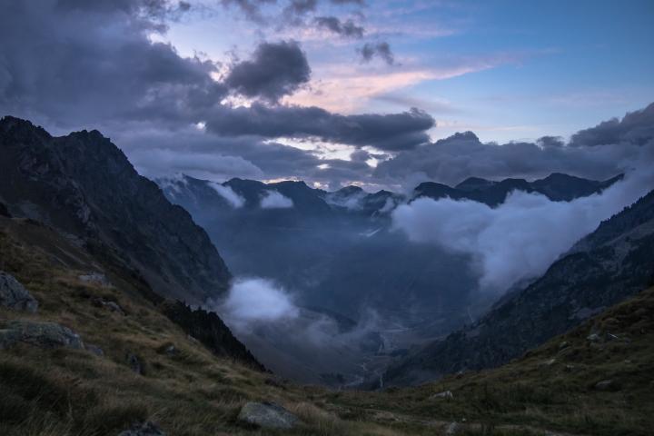 magiczny wieczór Pireneje cabana