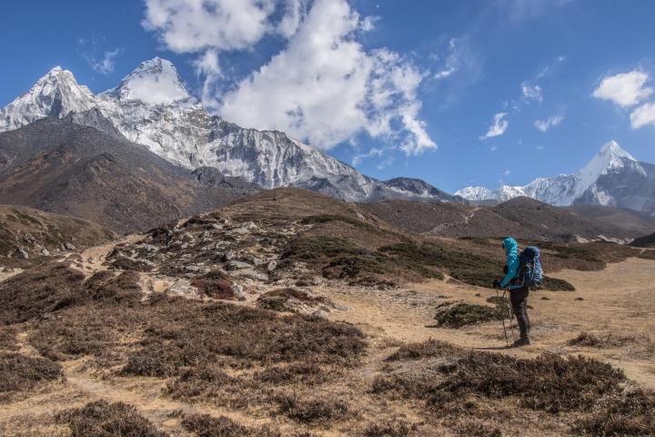 Ama Dablam, base camp, trekking, szlak