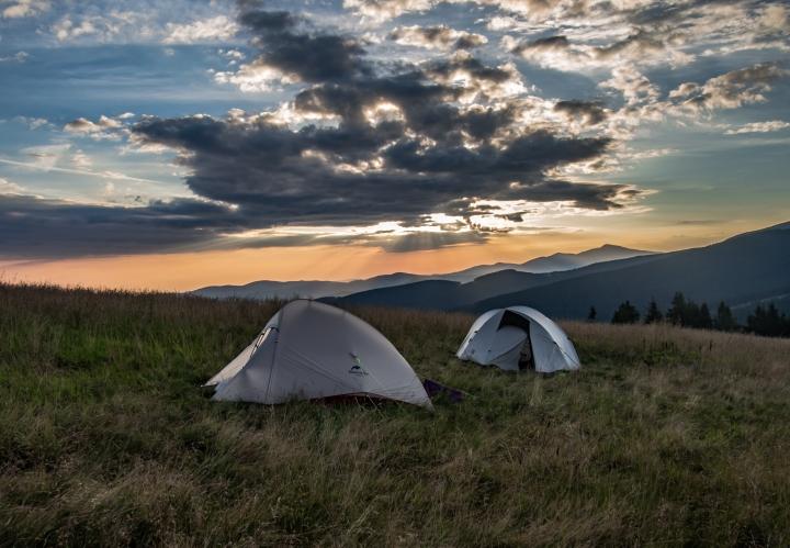 Rysianka, biwak, wschód słońca, trekking