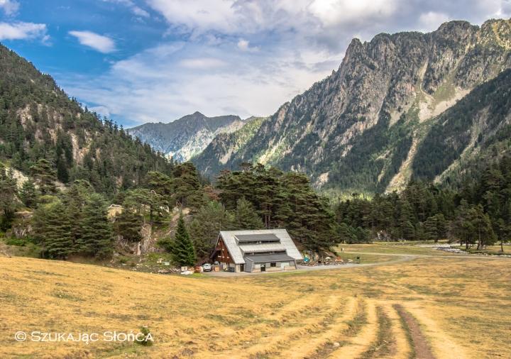 Chalet du Clot szlak Pireneje Marcadau trekking