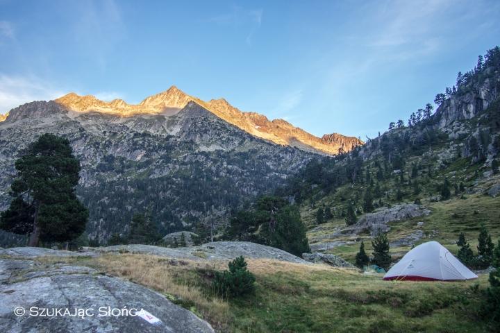 Pireneje namiot biwak Wallon Marcadau