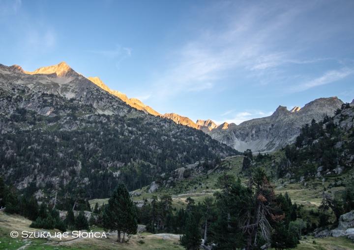 Wallon Marcadau szlaki biwak Pireneje