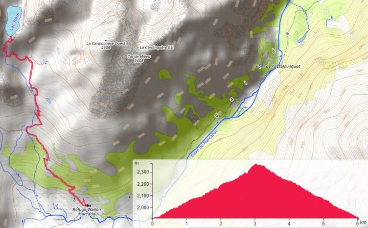 Lac Nere Pireneje szlak Marcadau