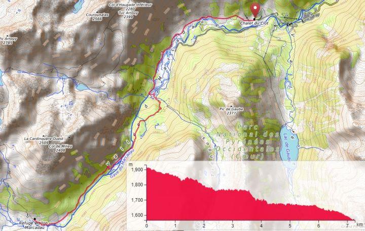 Refuge Wallon Pireneje szlak