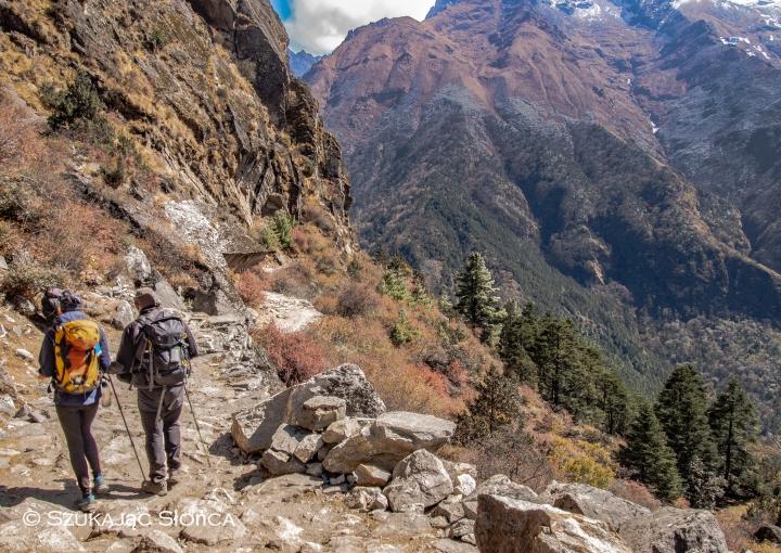 Namche Bazaar Tengboche szlak Himalaje trekking