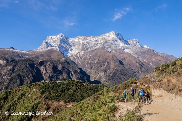 Namche Bazar Tengboche szlak Himalaje trekking