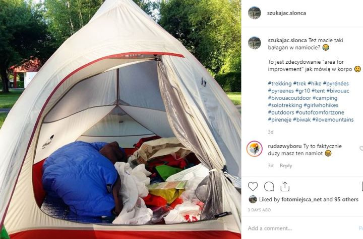Pireneje namiot biwak