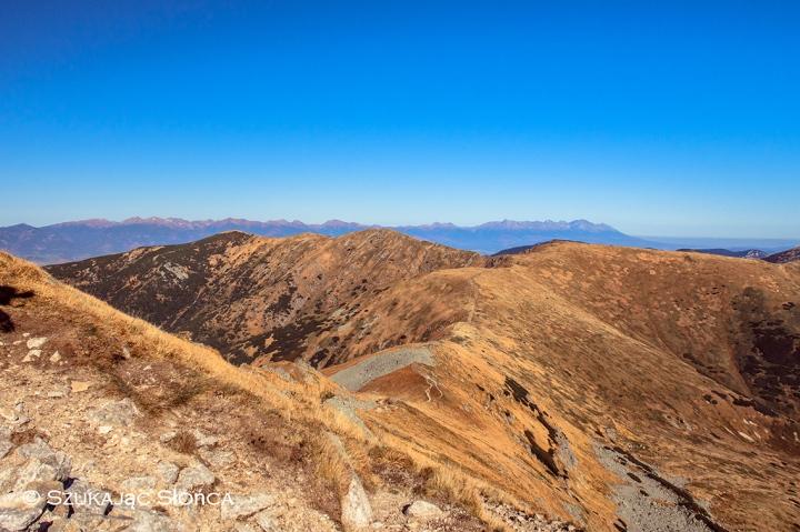 Grań Niżnych Tatr szlak trekking Kotliska
