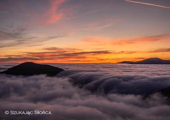 Niżne Tatry zachód słońca