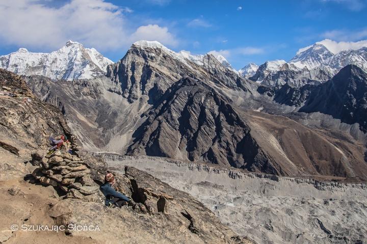 gdzieś tam widać Everest